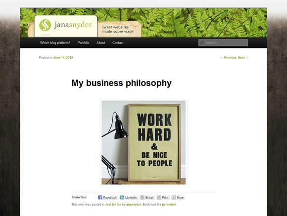 Jana Snyder - website design