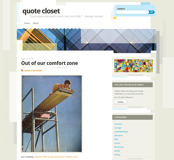"a website called ""quote closet"""
