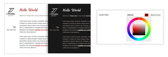 WordPress theme Chateau; customize with color