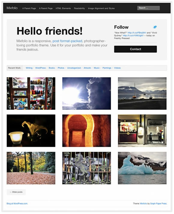 WordPress theme Mixfolio