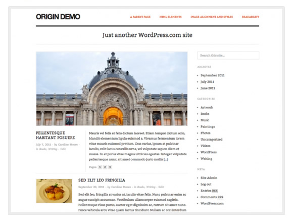 WordPress theme: Origin