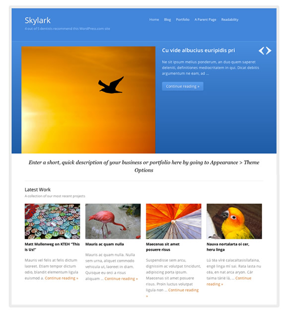 WordPress theme: Skylark
