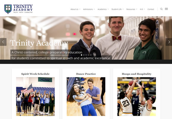 web design, Wichita KS - Trinity Academy