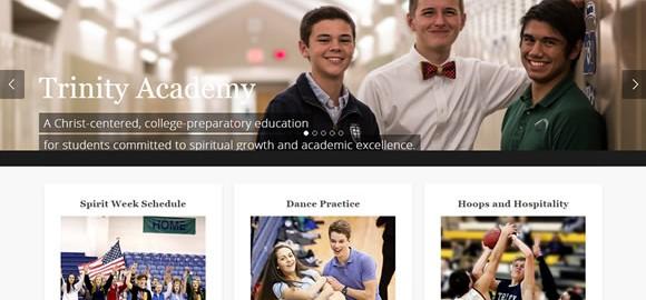 web design, Wichita KS - Trinity Academy